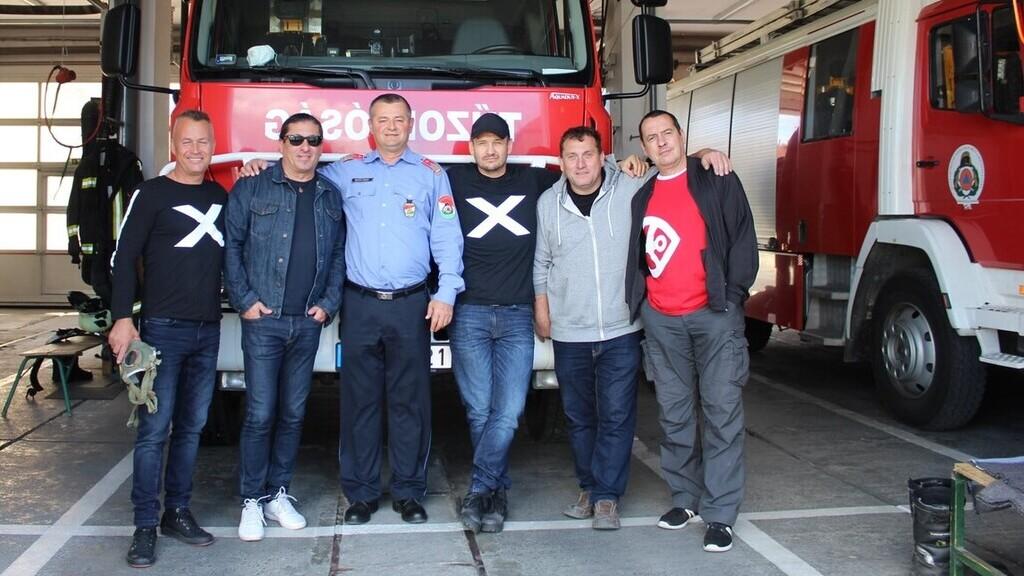 A Republic sokat köszönhet a pápai tűzoltóknak (Fotó: Országos Katasztrófavédelem FB)