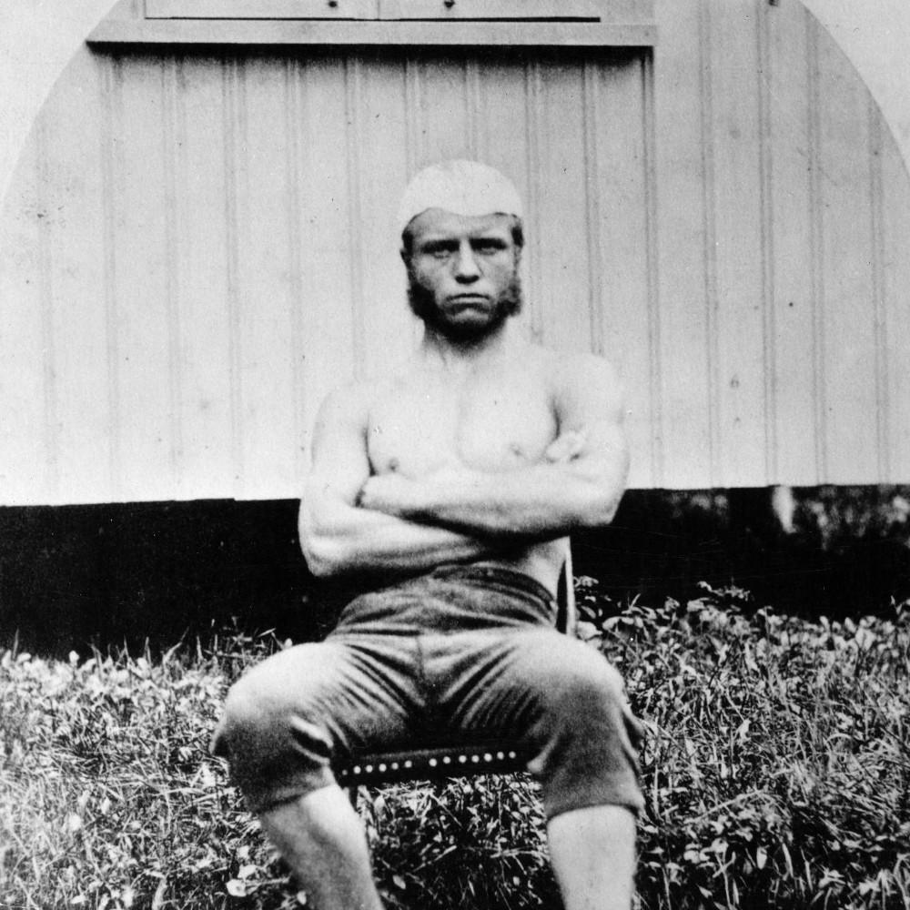 Az ifjú Teddy Roosevelt boxolóként (fotó: Wikipedia)
