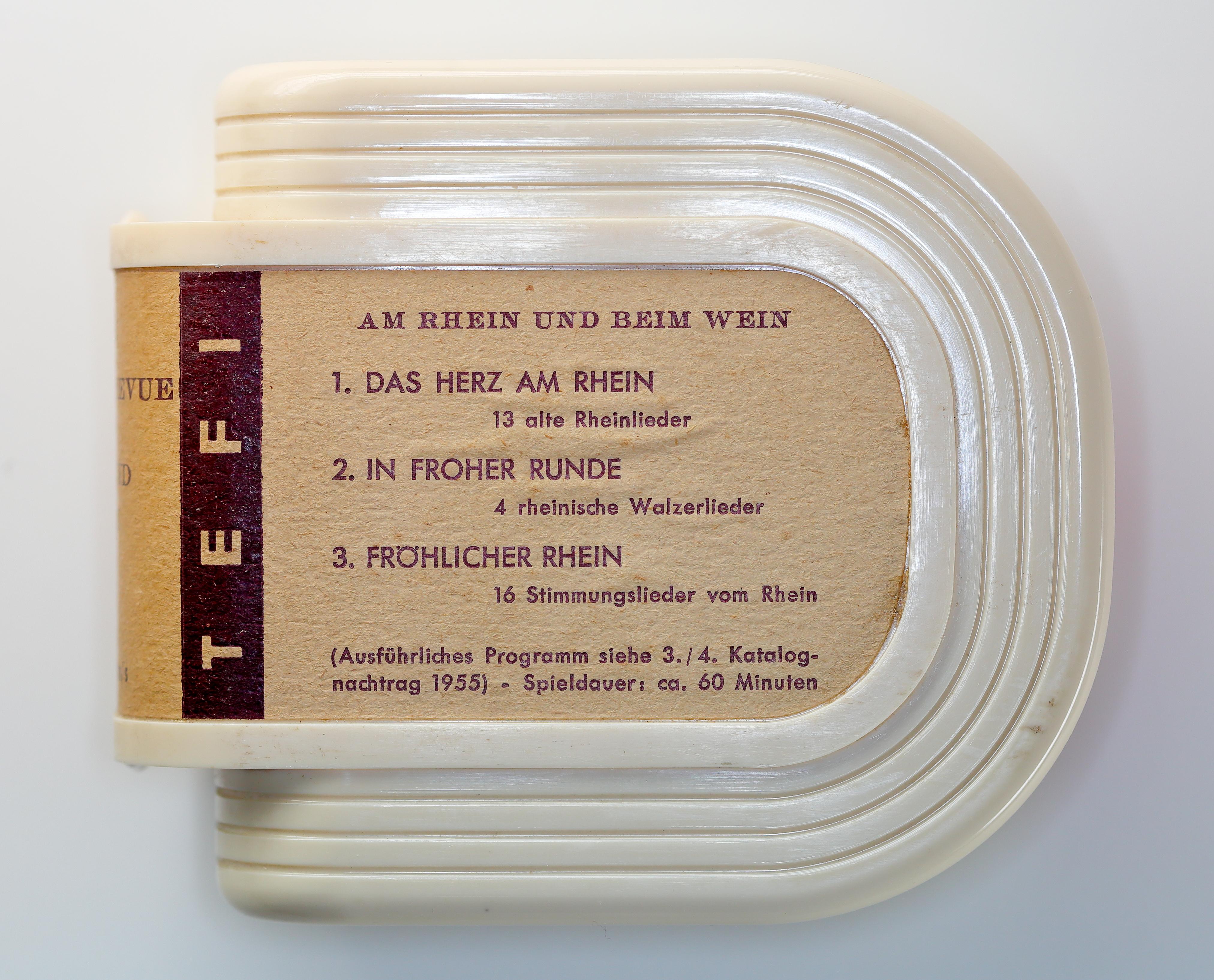 Egy Tefifon-kazetta 1955-ből (fotó: Wikipedia)