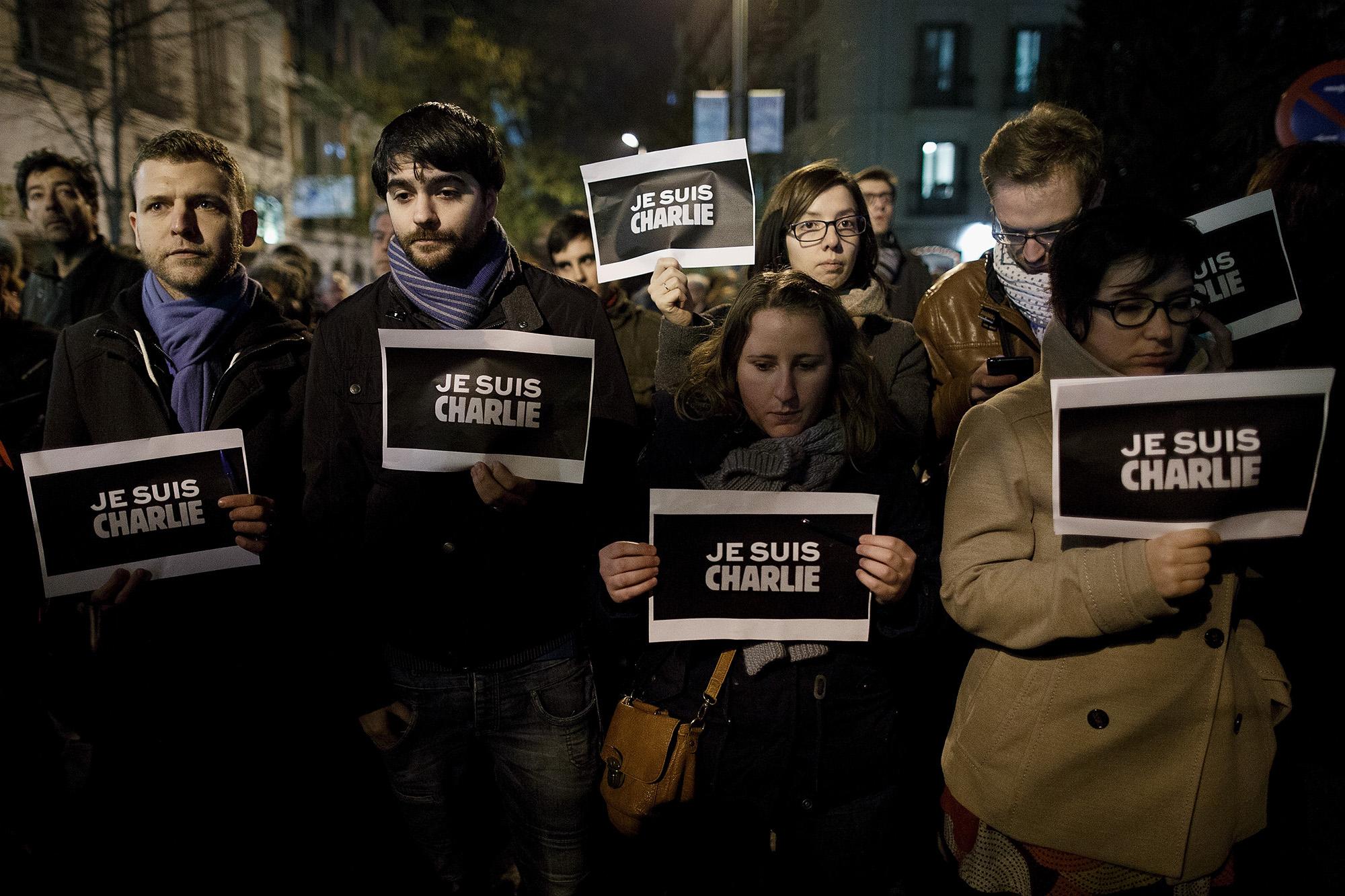 Madrid, 2015 január 7. (fotó: Pablo Blazquez Dominguez/Getty Images)