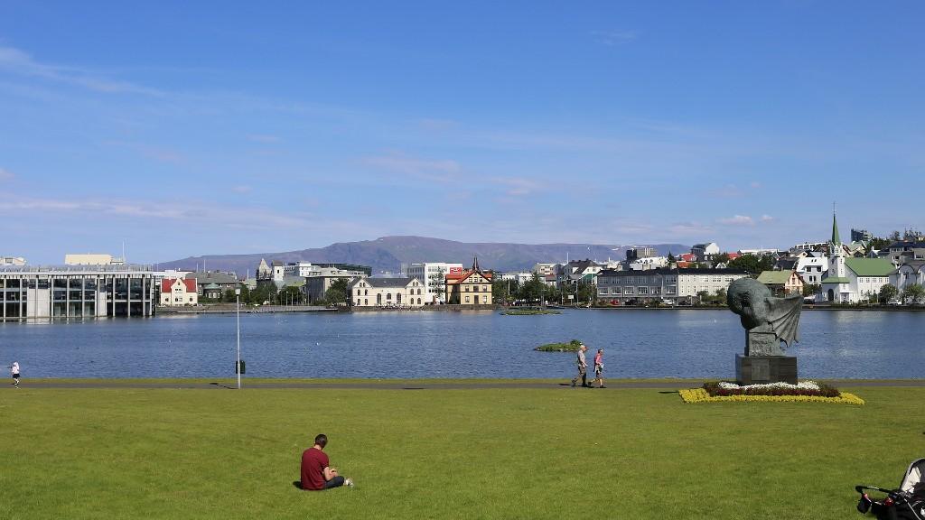 Reykjavík városközpontja (fotó: Pixabay)