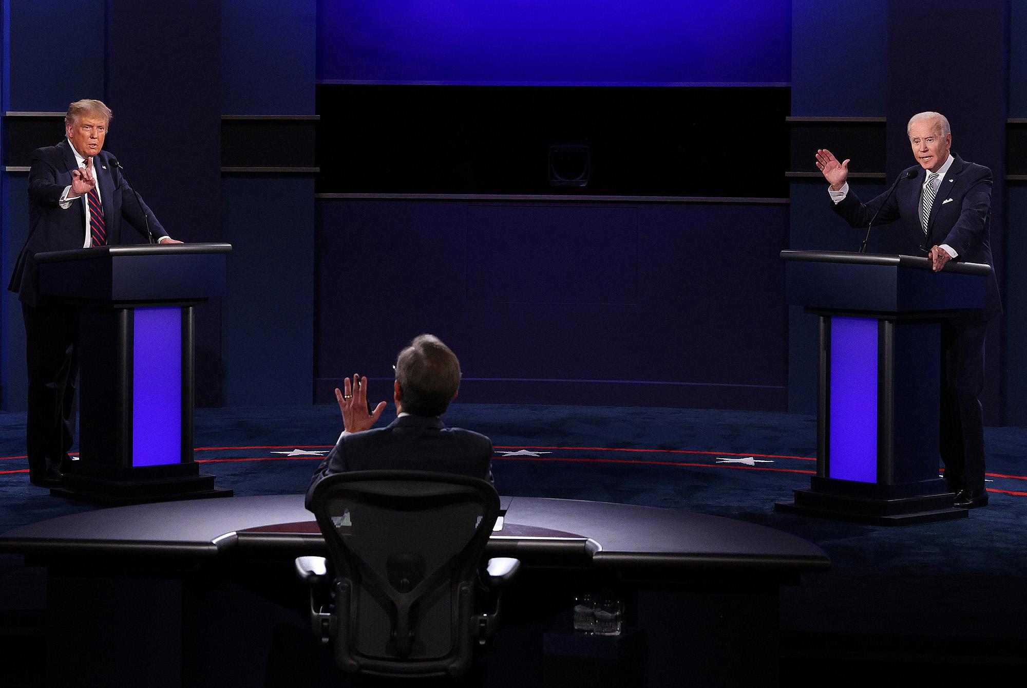 Trump és Biden vitája szeptembern 29-én (fotó: Scott Olson/Getty Images)