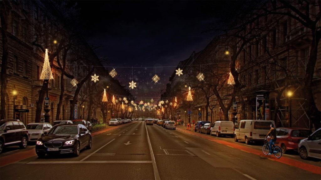 Környezetbaráttá teszik Budapest karácsonyi díszkivilágítását