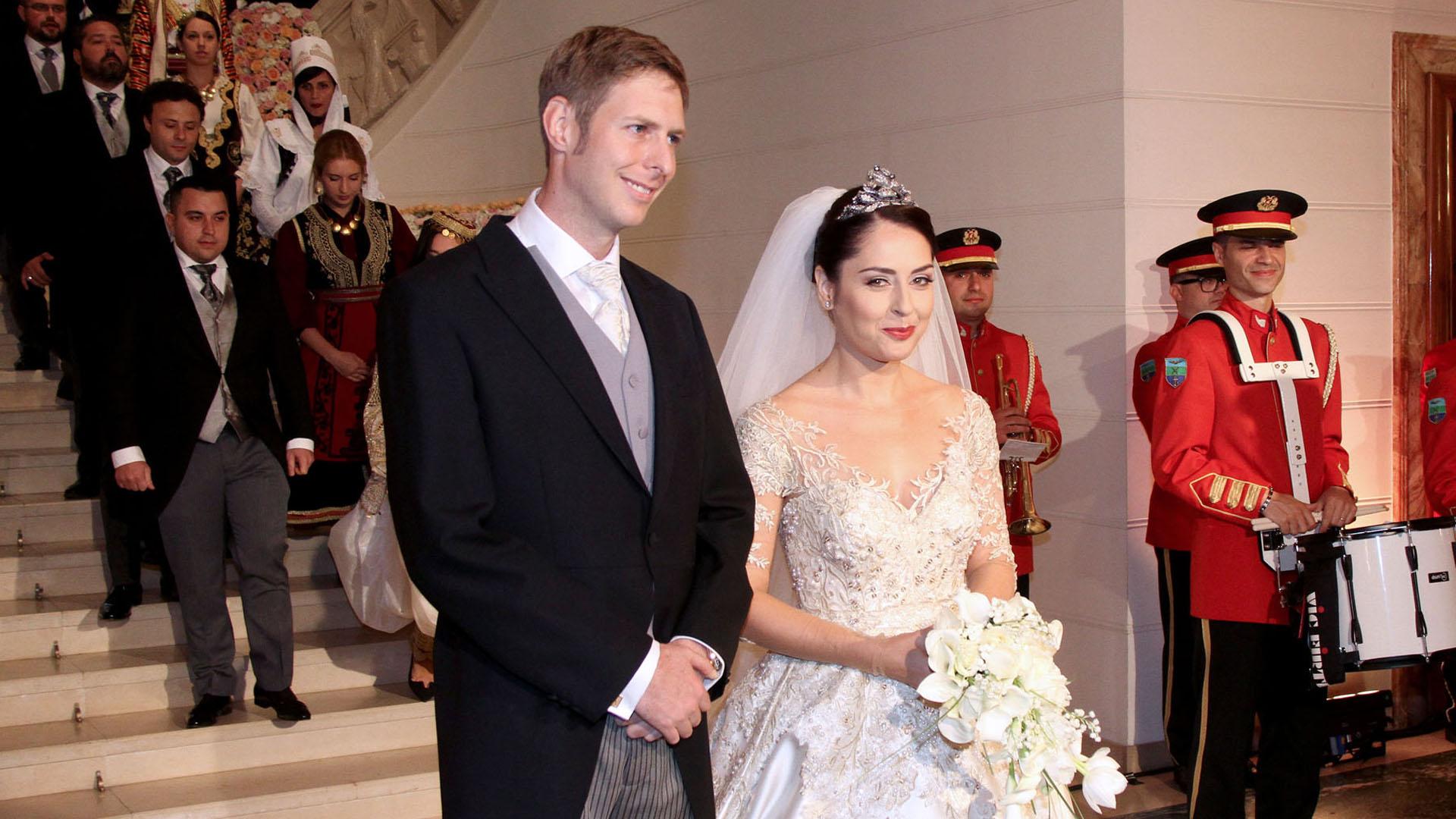 Leka albán koronaherceg és családja
