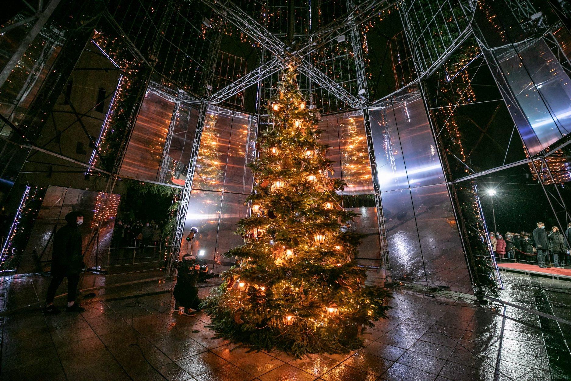 Csodálatos karácsonyfa Vilniusban