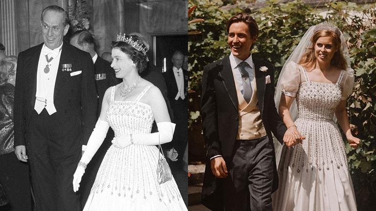II. Erzsébet 1961-ben és 1966-ban is viselte azt a ruhát, amiben unokája, Beatrix hercegnő férjhez ment.a