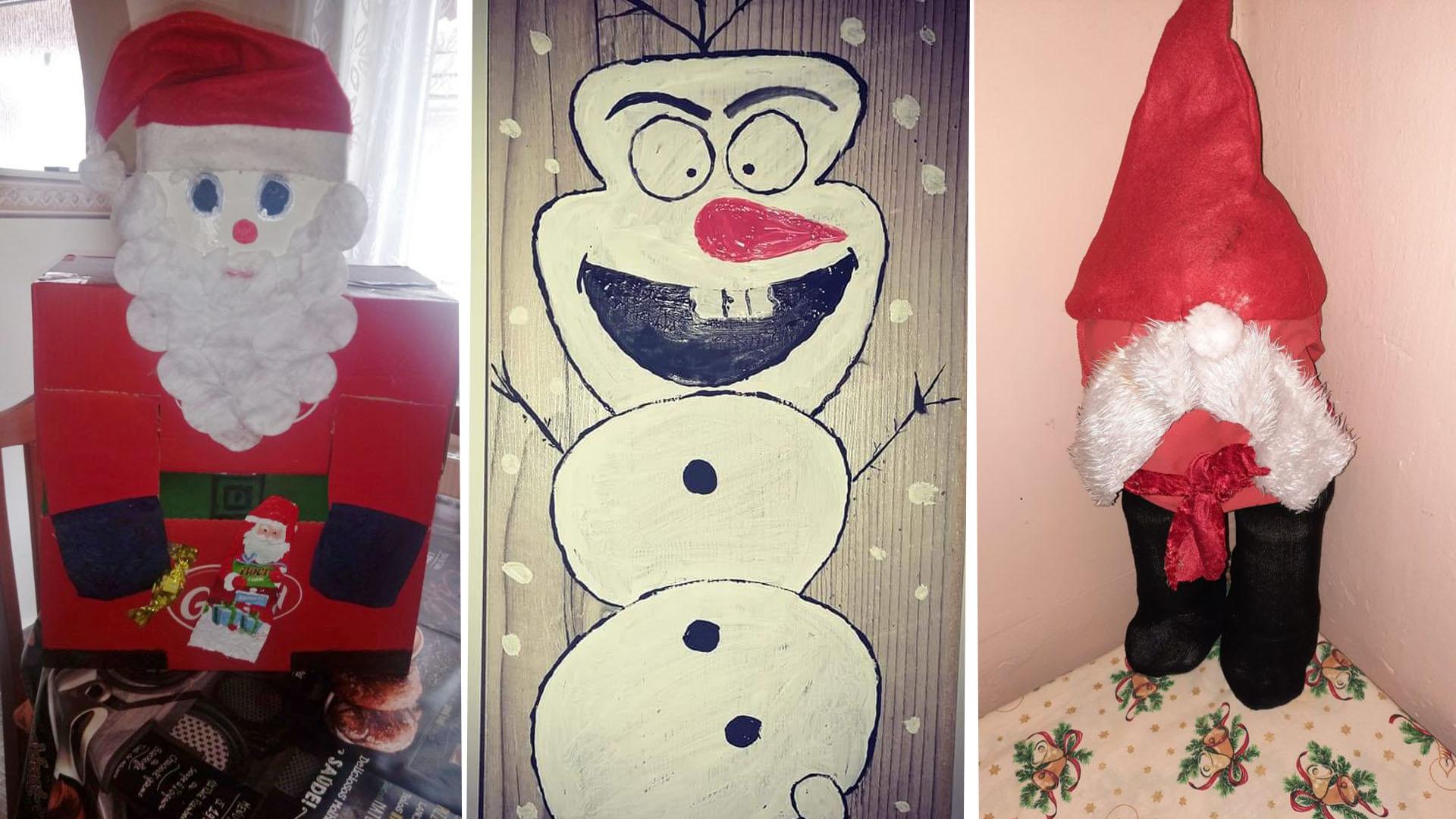 Viccesen ronda karácsonyi dekorációk