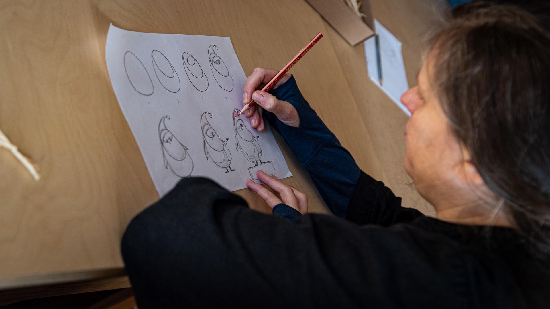 Agócs Írisz, rajzolás, krumpli