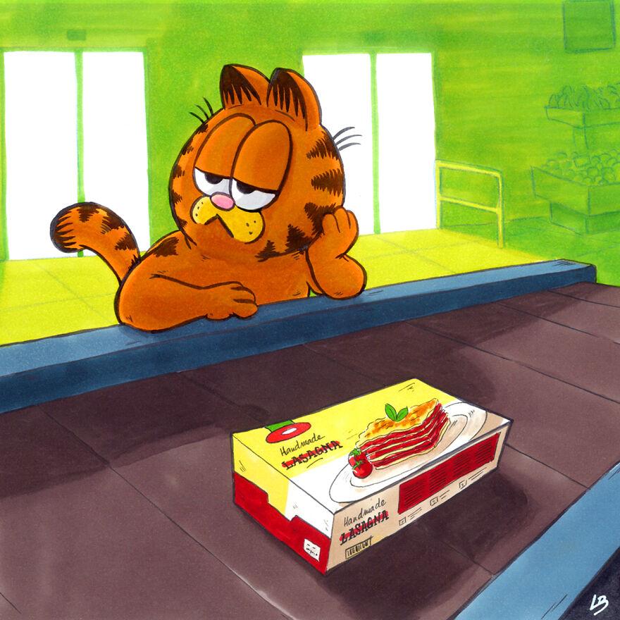 Garfieldot és az ő kedvenc tápláléka. (Kép: Linda Bouderbala)