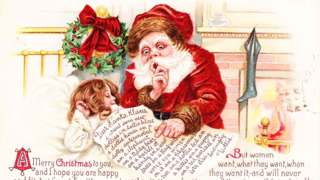 Korai karácsonyi képeslapok.