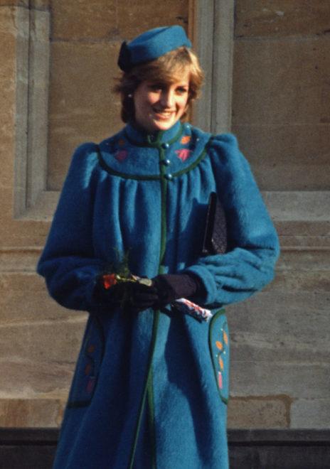 Diana hercegnő kék kabátja