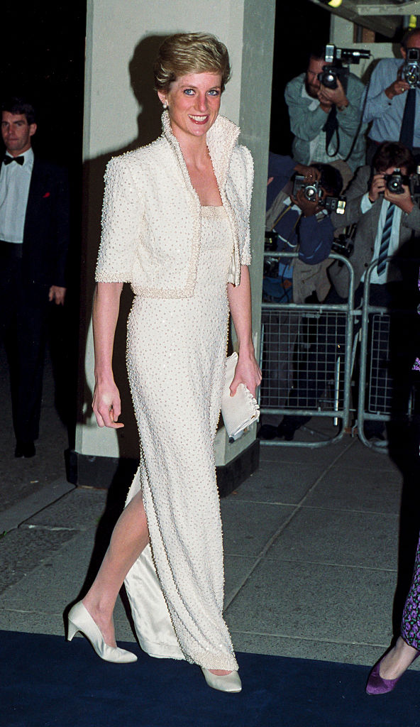 Diana hercegnő az 1989-es British Fashion Awards gálán