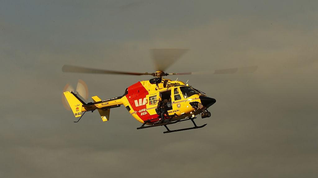 Mentőhelikopter Ausztrália partjainál