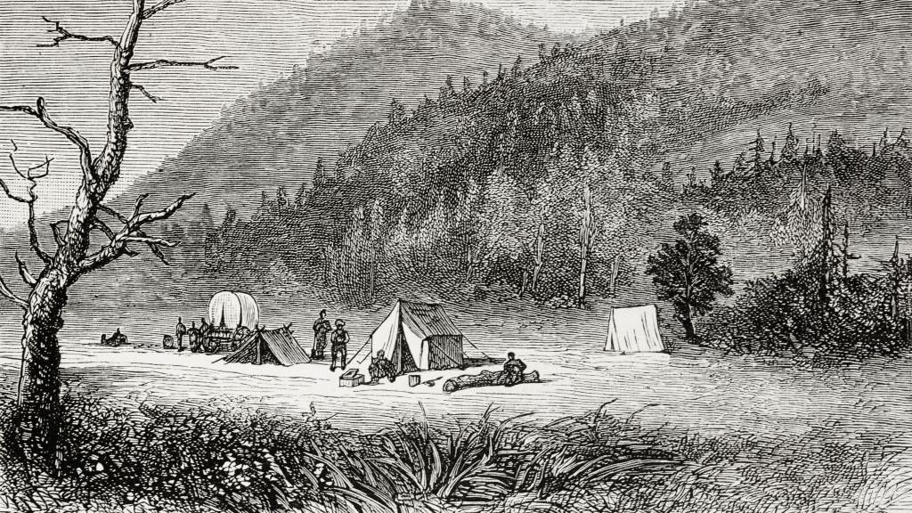 A kolorádói Bonanza az 1800-as években a Graphic magazin illusztrációjan.