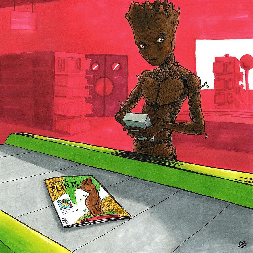 Groot a növénygondozásról szeretne mindent megtudni. (Kép: Linda Bouderbala)