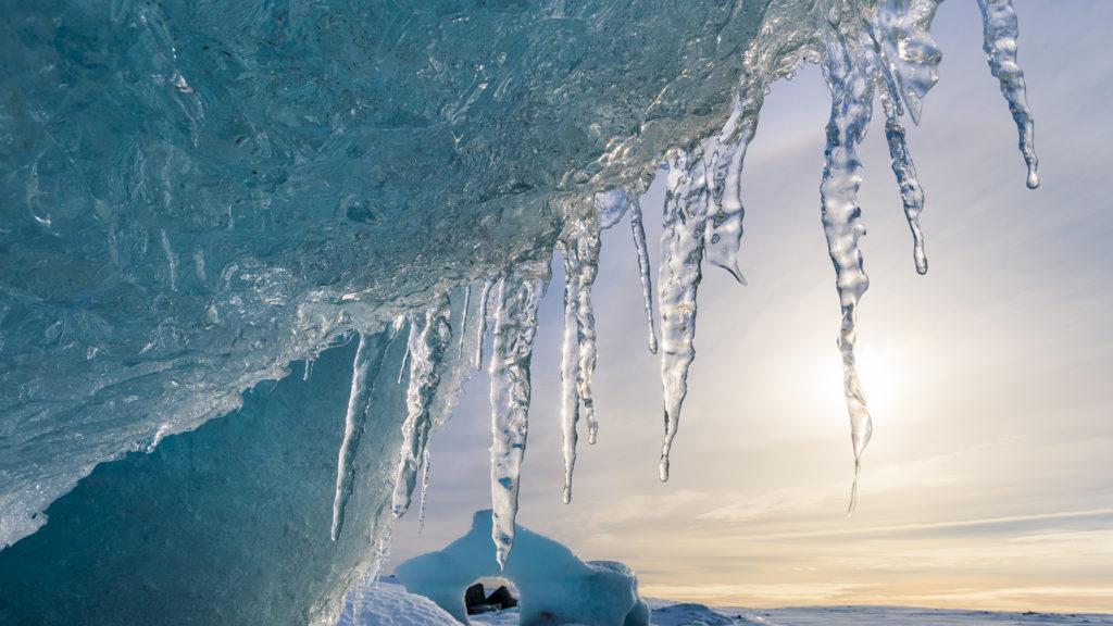 Jégcsap nőtt az Időkép kamerája elé