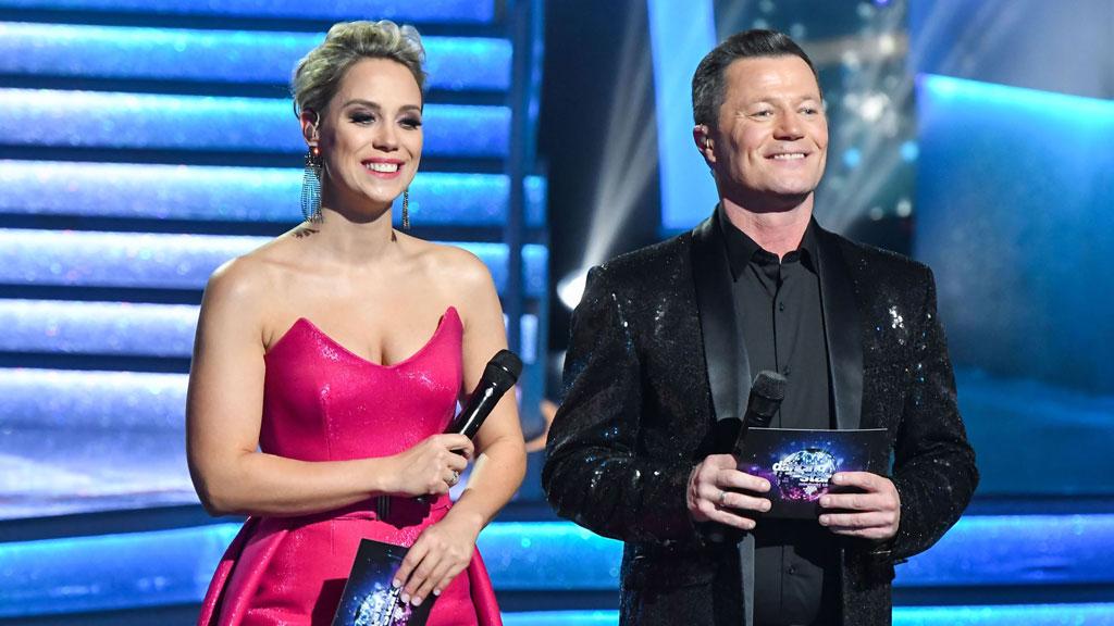 Lékai-Kiss Ramóna és Stohl András a Dancing with the Stars műsorvezetőjeként