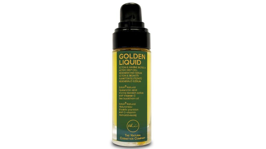 PHI - Golden Liquid Ectoin® és Bioaktív Plankton Anti-Age és Anti-Blue light regeneráló szérum stabil C- vitaminnal