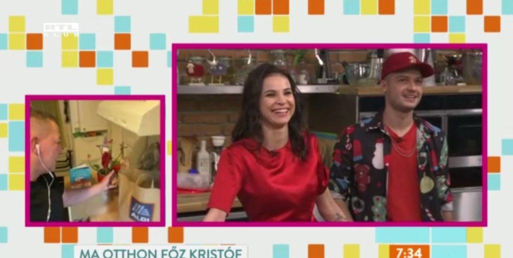 Németh Kristóf meglocsolta a mikulásvirágot, amin jót nevettek a Reggeli műsorvezetői