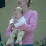 Melissa McKnight, Matt Leblanc (volt) felesége és lányuk Marina 2014-ben.