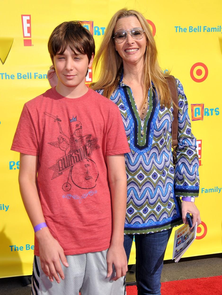 Lisa Kudrow és fia, Julian 2010-ben.