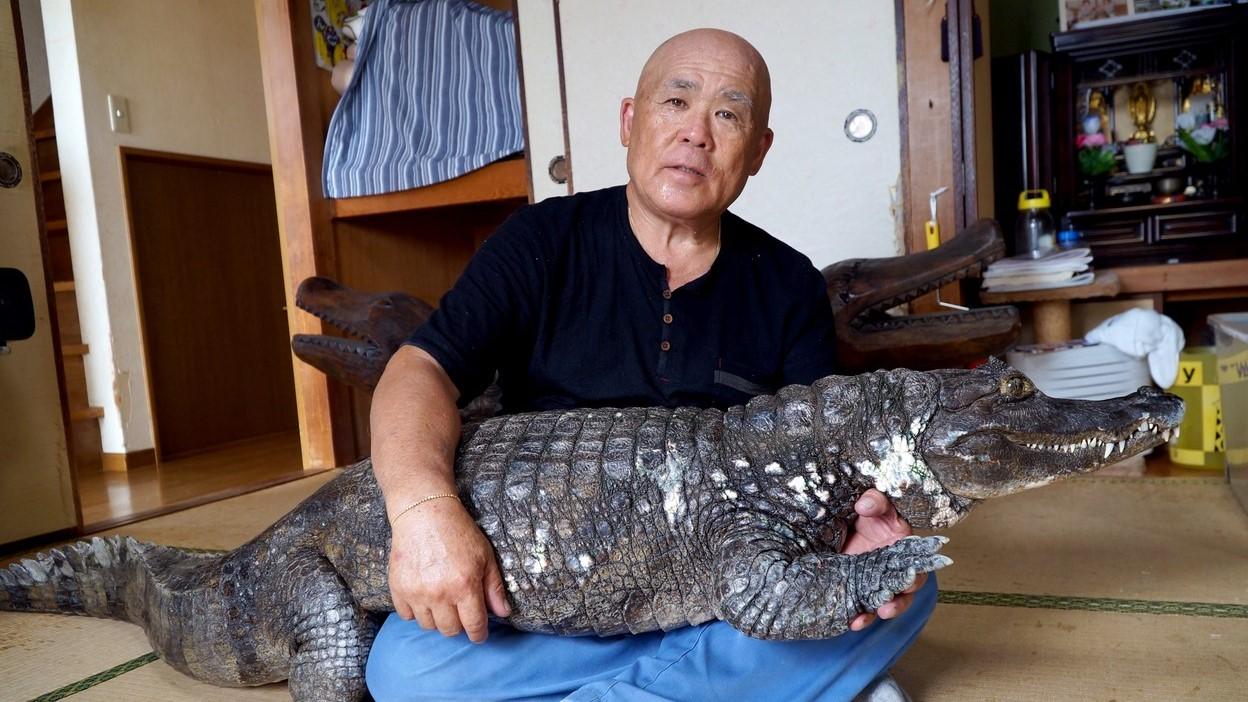 Nobumitsu Murabayashi és Kajmán úr.