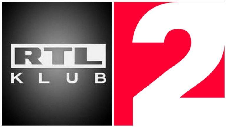 Az RTL Klub és a TV2 logója