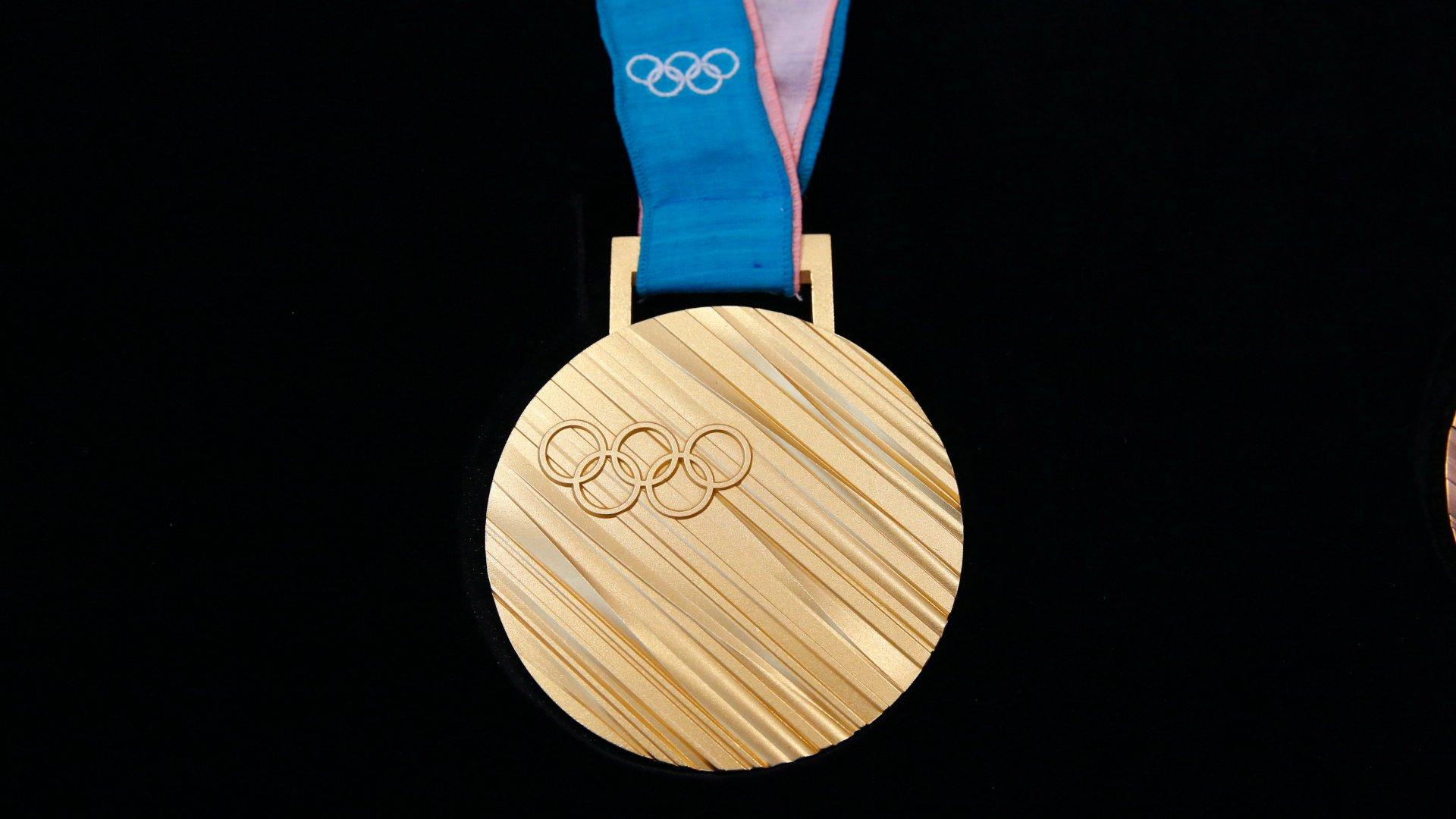 A phjongcshangi téli olimpiára tervezett aranyérem