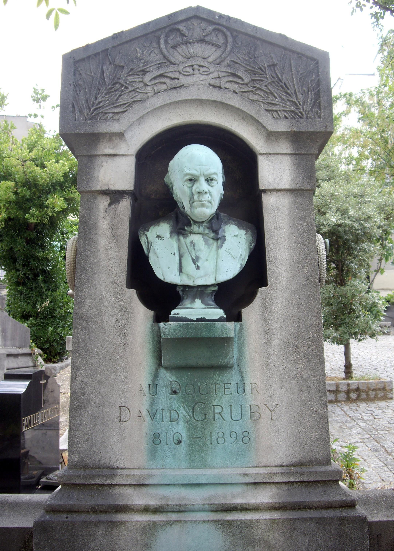 Gruby Dávid síremléke a Saint-Vincent temetőben (fotó: Wikipedia)