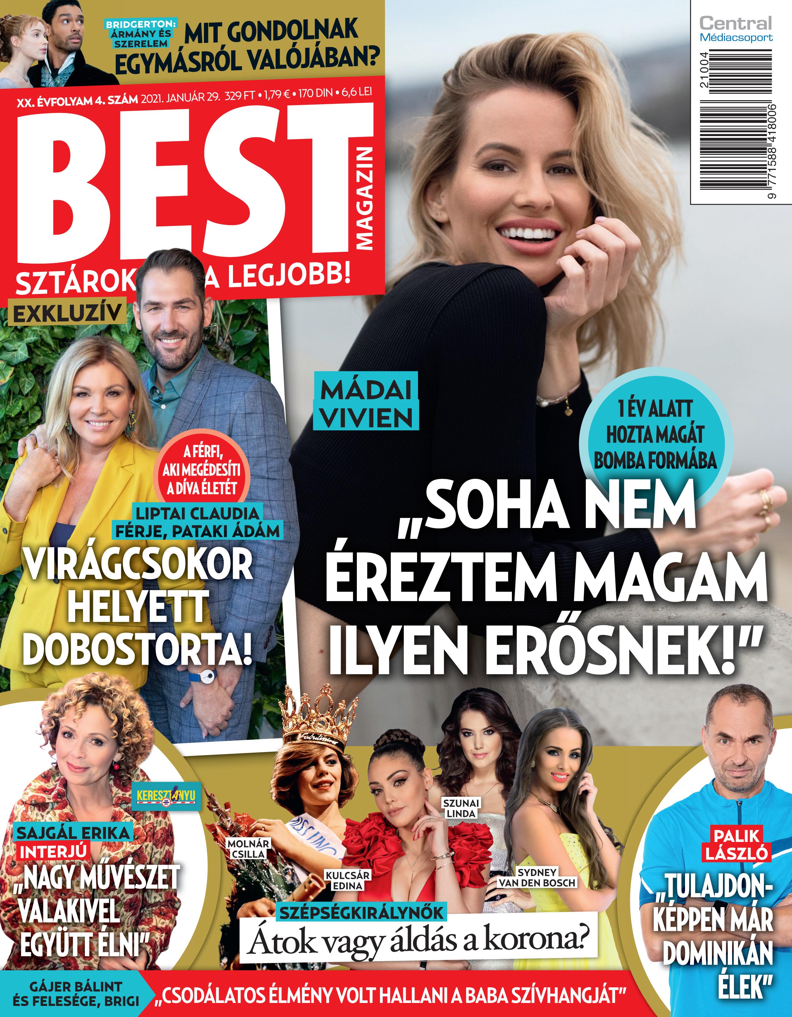 Liptai Claudia és férje, Gájer Bálint és Madai Vivien az e heti Bestben
