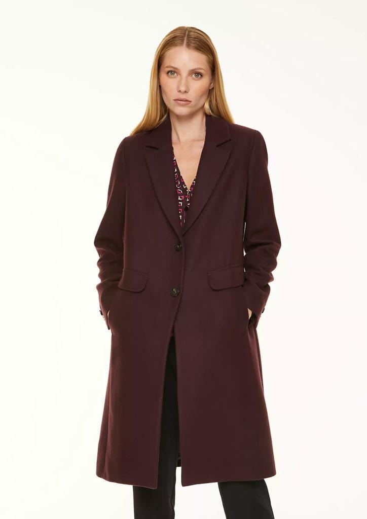 Comma bordó kabát