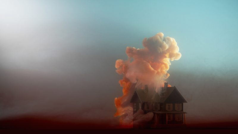 Égő ház