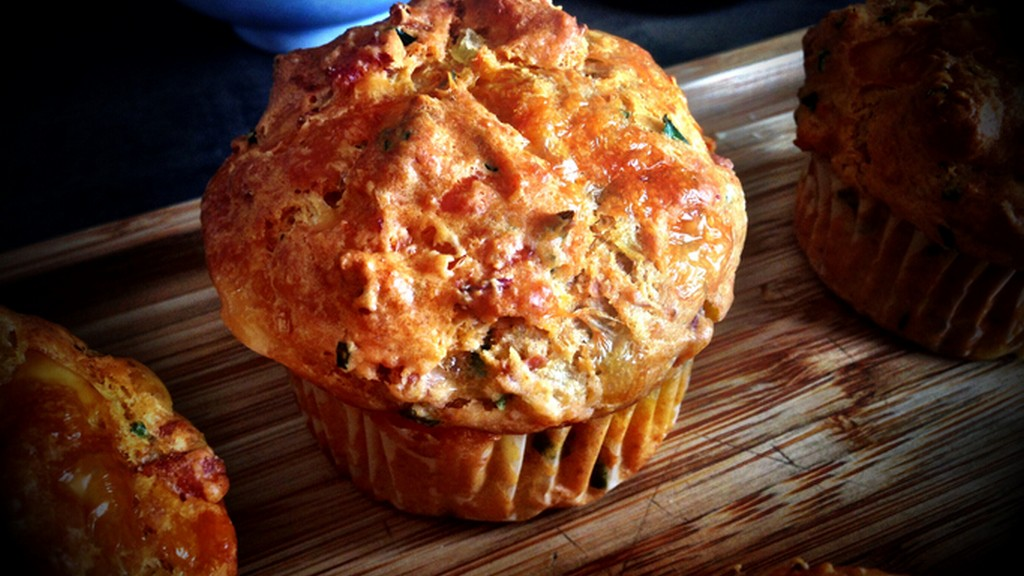 Sajtos muffin kukoricaliszttel
