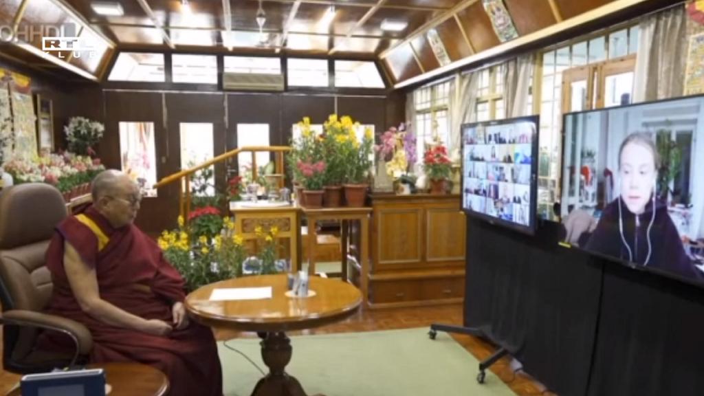 Greta Thunberg és a Dalai Láma