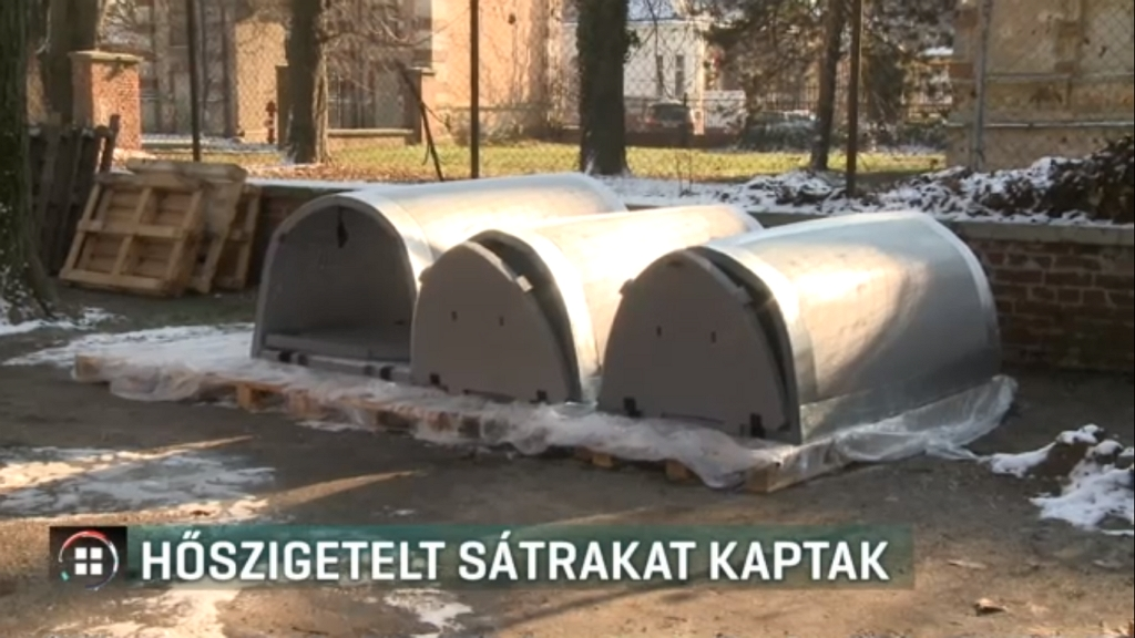 Hőszigetelt iglukat kapnak a hajléktalanok