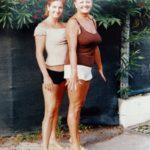 Keleti Andrea és az édesanyja, Ibolya
