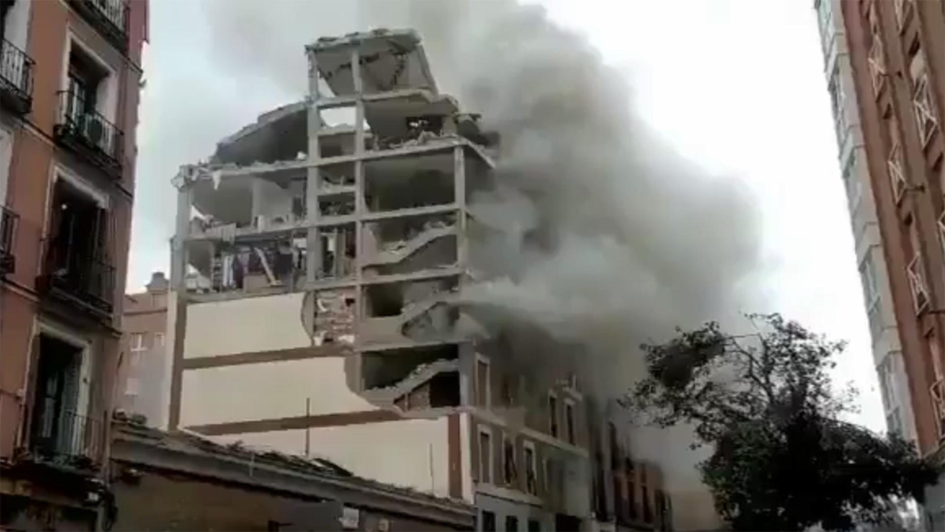 Nagy erejű robbanás történt Madridban