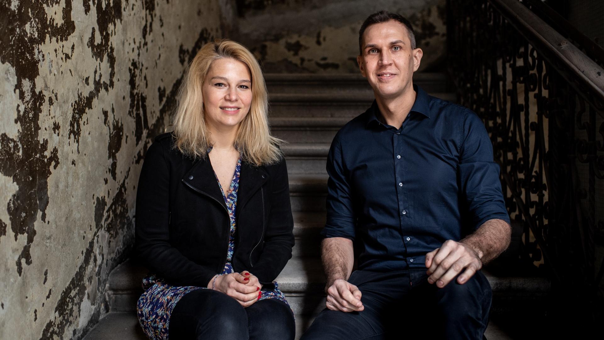 Munk Veronika és Dull Szabolcs, a Telex két főszerkesztője