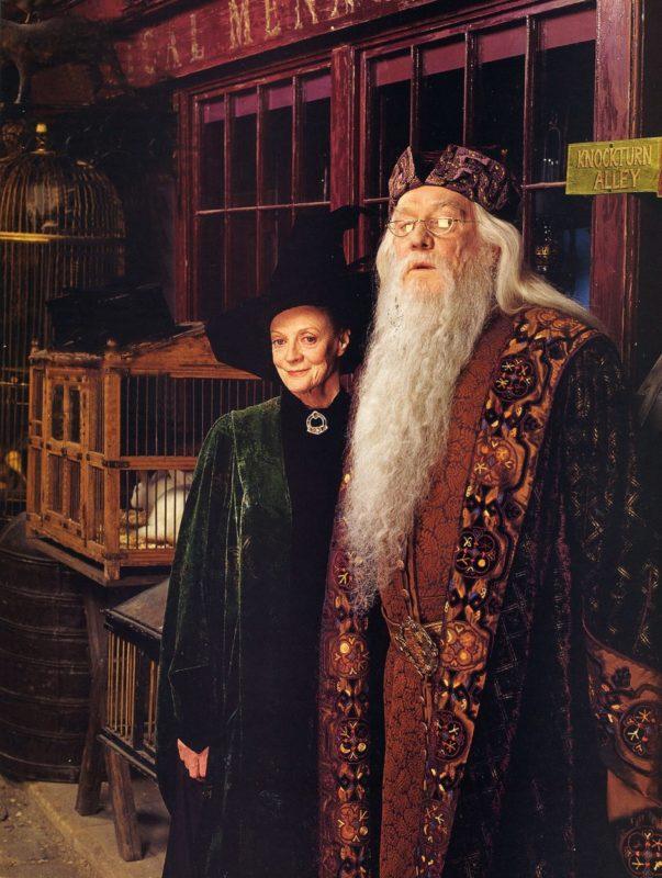 Richard Harris alakította az első két epizódban Dumbledore professzort, ám nem vihette végig a sorozatot