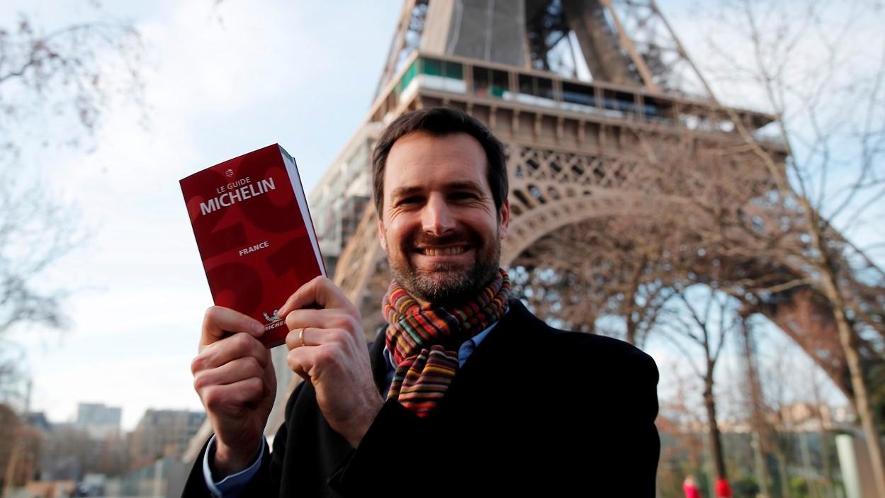 Gwendal Poullennec, a Michelin-kalauz nemzetközi igazgatója a legújabb, franciaországi kiadvánnyal.