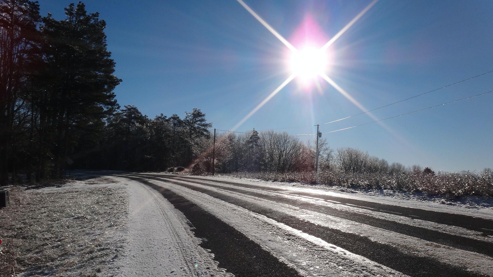 Napsütéses téli táj