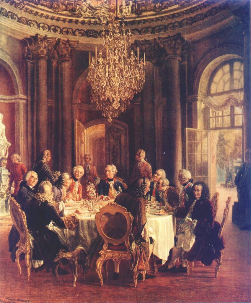 Adolph von Menzel La table ronde festménye