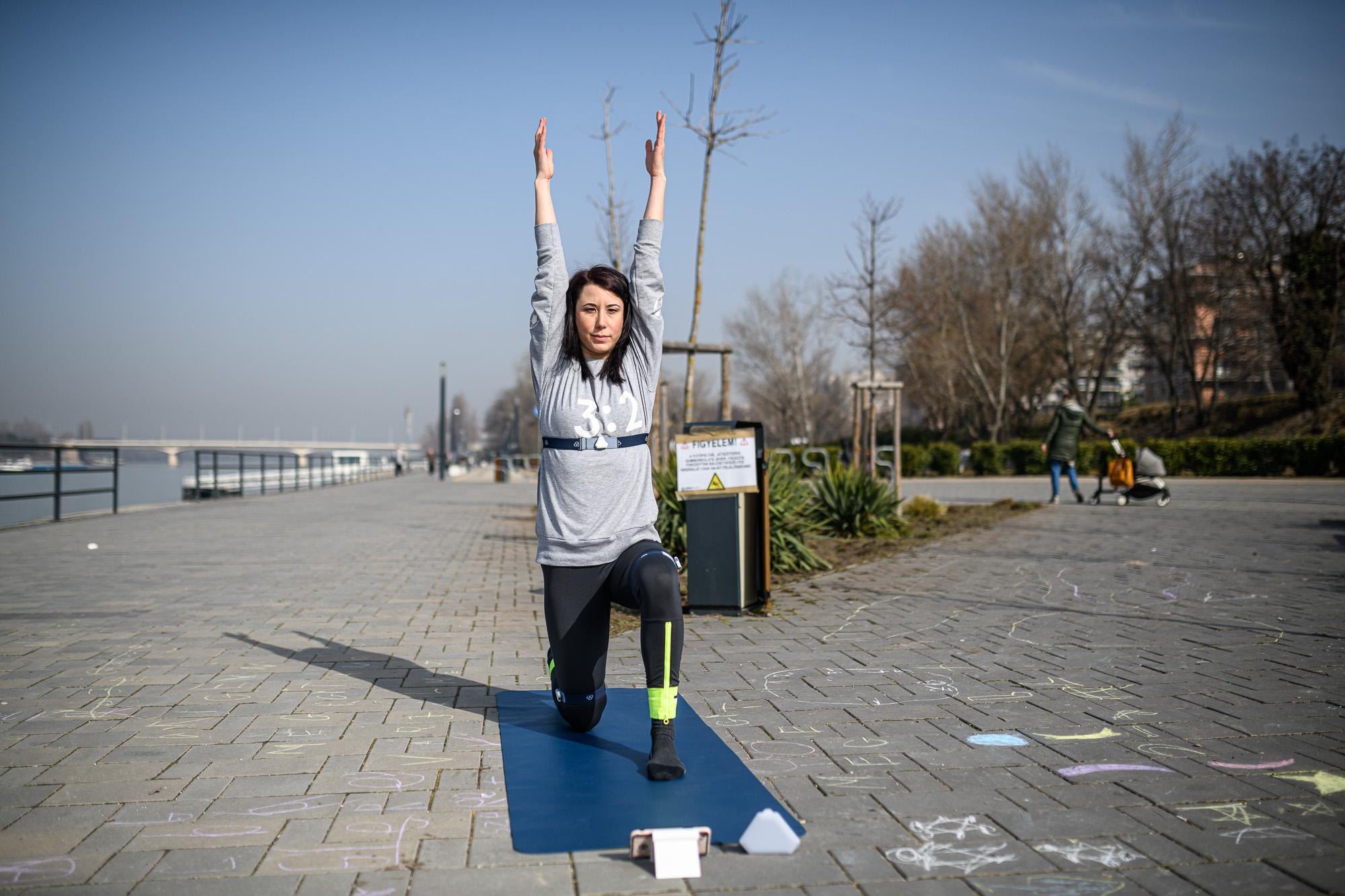 Ozsvald Eszter, a Yoga Notch feltalálója