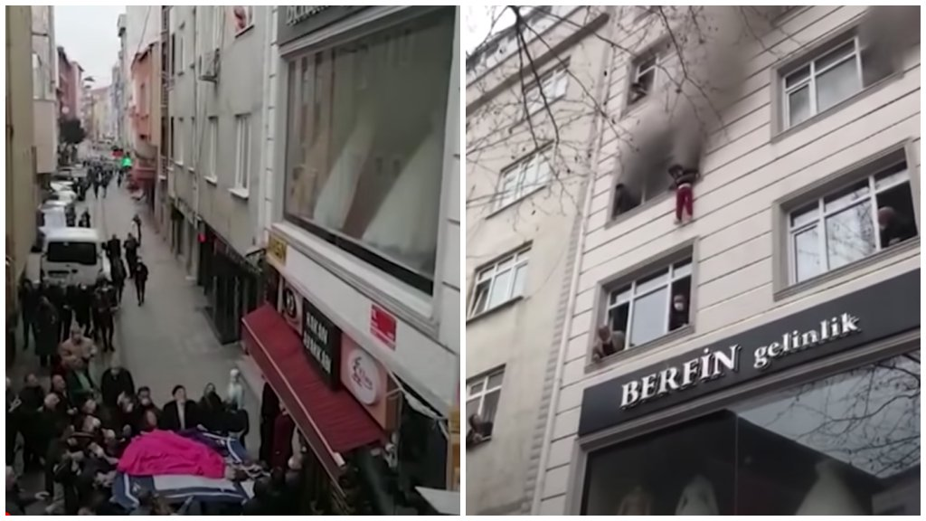 Kidobta a gyerekeket az égő lakásból