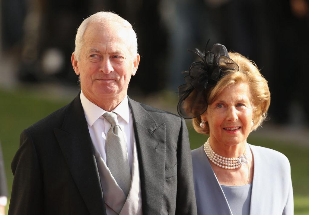 II. János Ádám liechtensteini herceg és felesége Marie hercegnő Henrik luxemburgi nagyherceg és Stefánia luxemburgi hercegné esküvőjén 2012-ben (Fotó: Sean Gallup/Getty Images)