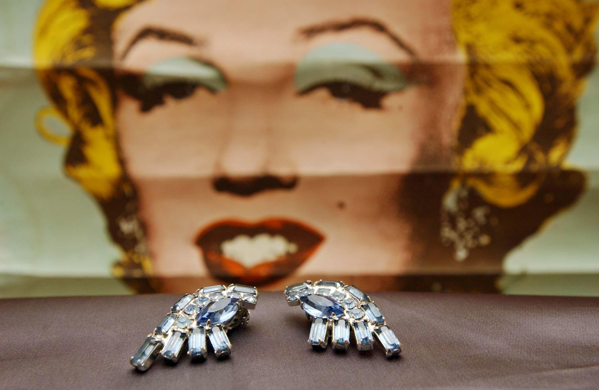Marilyn Monroe klipsze,