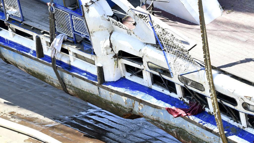A Hableány hajó roncsa