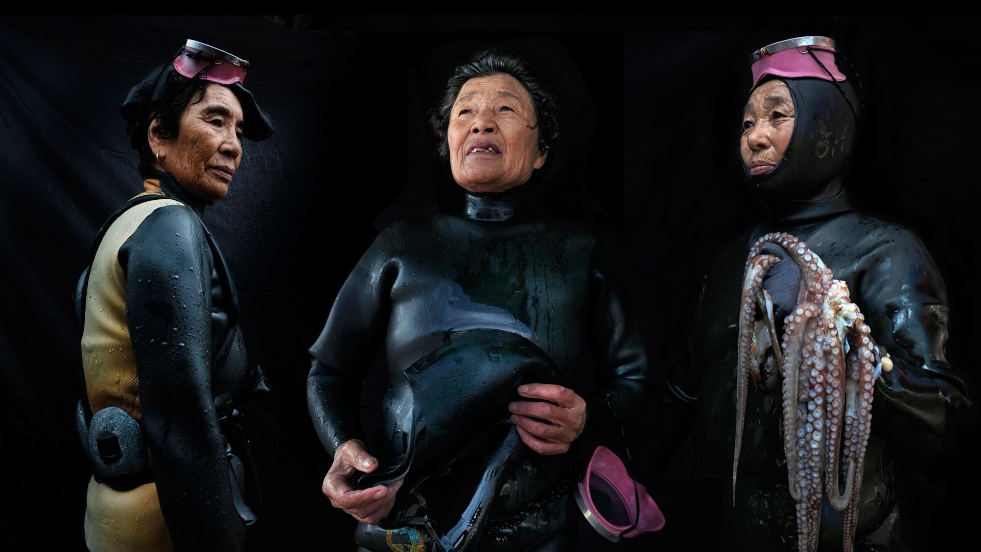 """80 felett sem állnak le a szabadtüdős búvárkodással a koreai """"tengeri nők"""""""