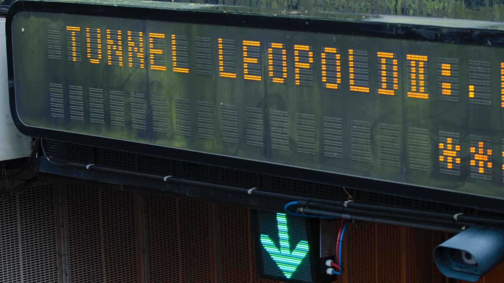 II. Lipót alagút Brüsszelben