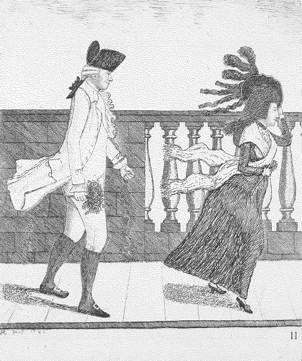 Egy korabeli karikatúra Dr. James Grahamről (forrás: Wikipedia)